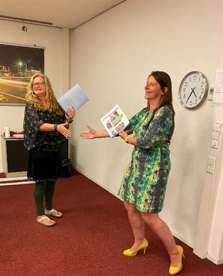 Ondertekenenen samenwerkingsovereenkomst Het Groene Hofje