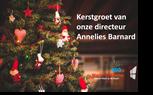 Kerstgroet van onze directeur Annelies Barnard
